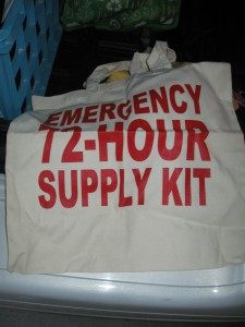 bag, emergency supply kit bag, reusable bag
