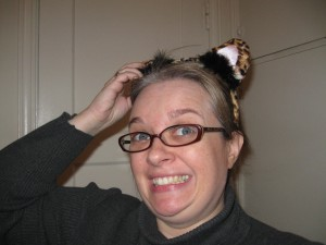 birthday, party, cat ears, leopard print cat ears
