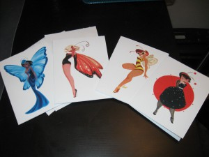Casey Robin, Lady Bugs, notecards, artwork, prints, starlets, Hollywood