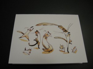 Casey Robin, cats, cat lovers, cat lady, note cards, stationery