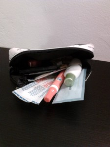 mini drugstore kit, first aid supplies, emergency kit for purse, drugstore items