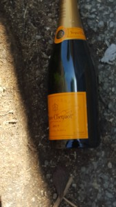 Veuve Clicquot, sparkling wine, champagne, French wine, weird things seen on street