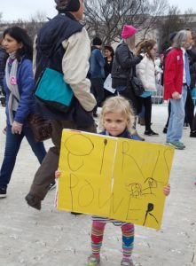 girls power, little girl with girls power sign, Women's March on Washington