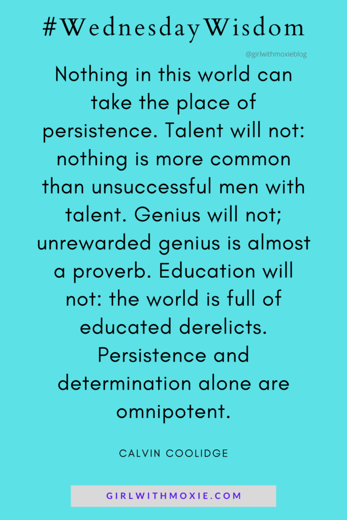 Calvin Coolidge, quotes, persistence, determination, nothing in the world can take the place of persistence, personal growth