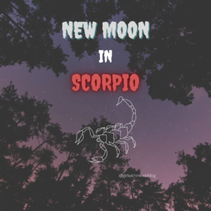 new moon in Scorpio, Scorpio new moon, new moon, moon, Scorpio, astrology, girl with moxie, personal growth, transformation