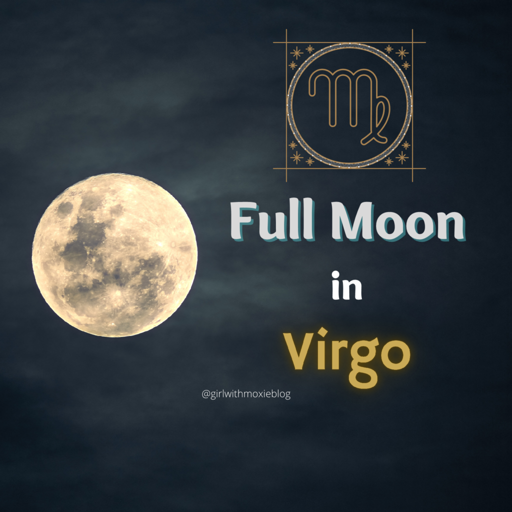 virgo full moon, full moon in virgo, virgo, full moon, astrology, moon cycles, girl with moxie