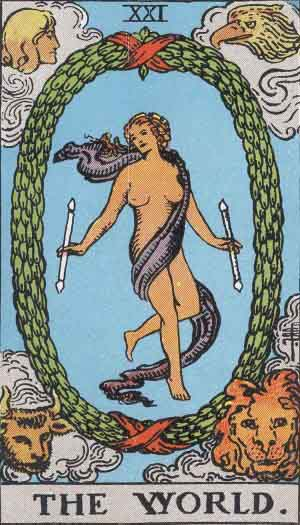 World card, Tarot, tarot card, World Tarot card